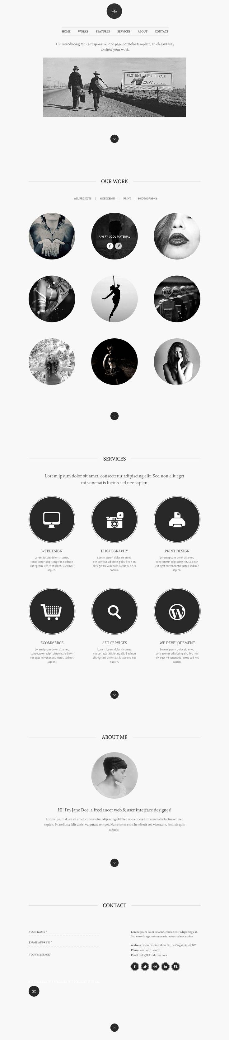 great one page web wordpress themes