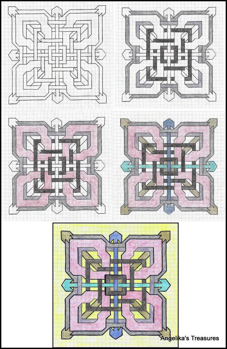 Best 25+ Graph paper art ideas on Pinterest | Zen doodle patterns ...