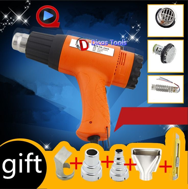 62.61$  Watch now - http://alisy0.shopchina.info/go.php?t=32358709913 - hot selling 240V 1600W heat gun hot air gun industrial drying gun hot air blower plastic welding torch with 4 nozzle HB-160A 62.61$ #bestbuy