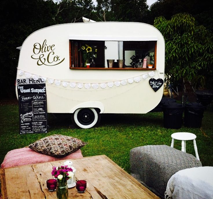 Wedding Decorations Gold Coast: Vintage Caravan, Coffee, Bar Hire, Gold Coast, Wedding
