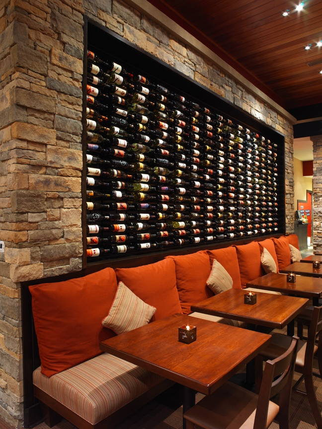 firebirdsrestaurants.com - wine wall. Lose the wall but the lighting - not so much.