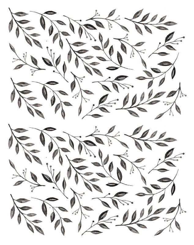 Inked Leaves 38 Piece Wall Decal Set In 2020 Laundry Room Wallpaper Wall Decals Vinyl Wall Stickers