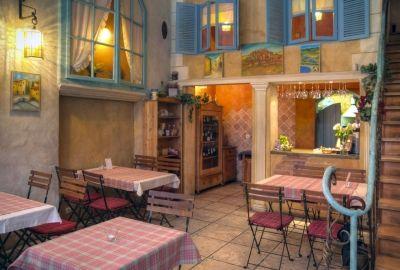 """Toruń - restauracja """"Prowansja"""" (ulica Szewska 19)"""