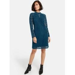 kleid aus samtspitze blau taifuntaifun blaues spitzenkleid kleid