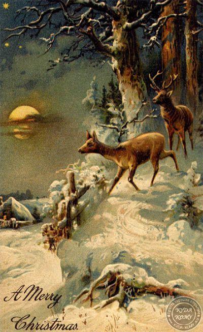 Новогодняя открытка на английском языке   Рождество в ...