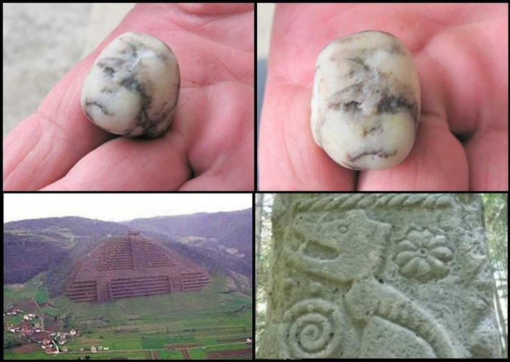 "∆...New Artifact found between The Pyramid of the Sun and Pyramid of Love,  Bosnian Pyramids 36,000 Years Old, Larger than Giza    During the survey of the location ""Ilijin Potok"", between the Bosnian Pyramid of the Sun and Bosnian Pyramid of Love an interesteing atrifact was discoverd with outlines of a girl's face."
