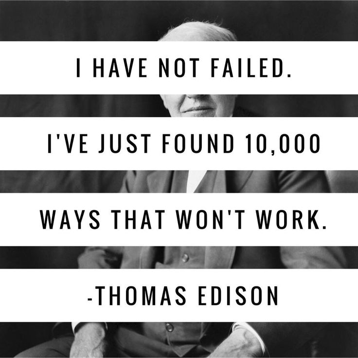 """I have not failed. I've just found 10000 ways that won't work.""  Thomas Edison  #quote #quotes #quotesdaily #quoteoftheday #quotestoliveby #edison #thomasedison #likeforlike #followforfollow #follow4follow #like4like #englishlearning #english #inglés #learnenglish #englishlanguage #aprenderinglés #kse #kseacademy #academia #academiadeinglés #granada (Academia de inglés en Granada KSE Academy)"