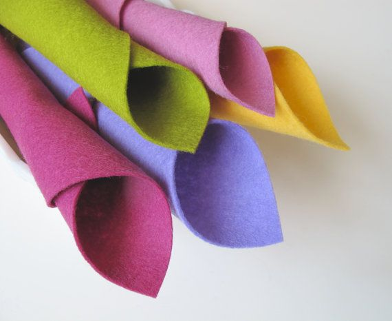 Wool Felt Fabric Sheets  Fairy Color Story  Pink by FeltOnTheFly, $15.00