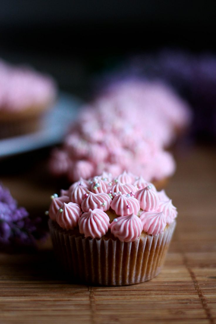 Cupcake with cream