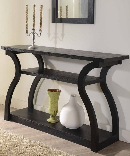 Contemporary Foyer Furniture: Black Pixie Elegant Console Table