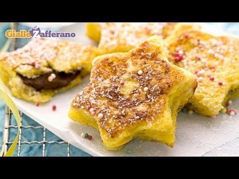 Stelline alla Nutella (nutella French toast stars), un dolce sfizioso per carnevale.