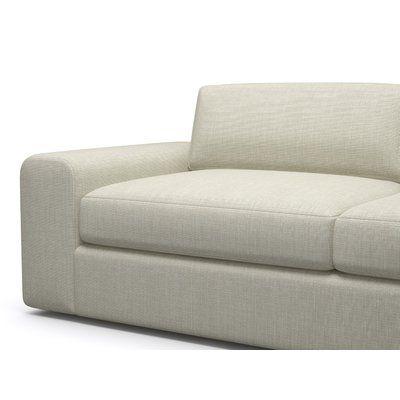 "BenchMade Modern Couch Potato Sofa with Bumper Size: 98"" x 30"" x 37"", Body Fabric: Addison Dove, Leg Color: Espresso, Sectional Orientation: Left F..."