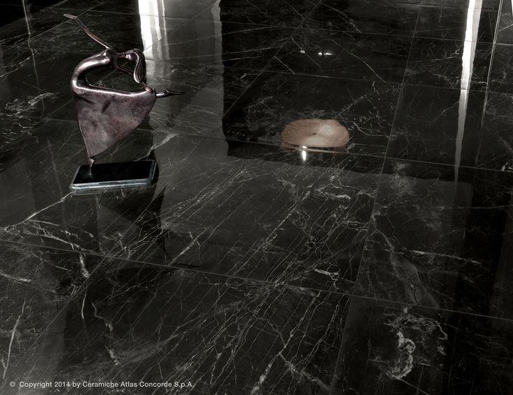 Floor Tile / Porcelain Stoneware / Polished / Marble Look   MARVEL ... |  BLACK AND WHITE MARBLE FLOOR | Pinterest | Concorde, Stoneware And Porcelain