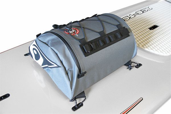 Stand Up Paddle Deck Bag This water resistant deck bag is the ideal accessory for SUP Touring or simple afternoon paddles. The 30L bag fits directly onto any SUP board fitted with 4 deck attachment po