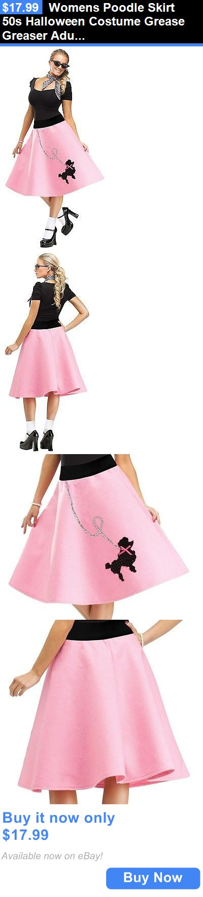 Women Costumes: Womens Poodle Skirt 50S Halloween Costume Grease Greaser Adult Fancy Dress New BUY IT NOW ONLY: $17.99
