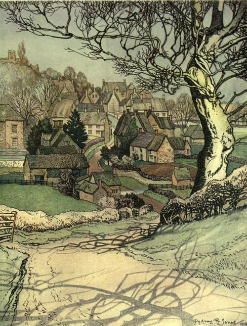 Sydney R. Jones, The Village Homes of England, 1912, etching.