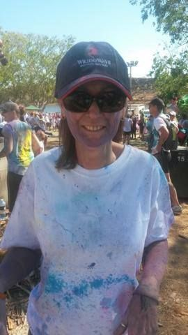 Deb from our Mt Isa branch took part in this years' Cancer Council Colour Run to raise money for charity - go Deb! #charityrun #cancercouncil