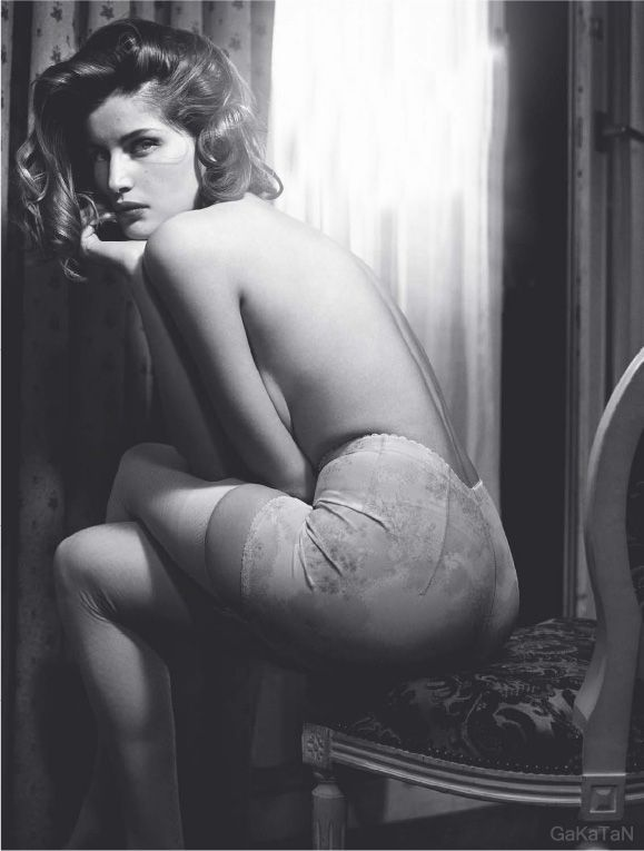 Laetitia Casta photographed by Vincent Peters ('Morning Beauty') for ELLE France, January 2008.
