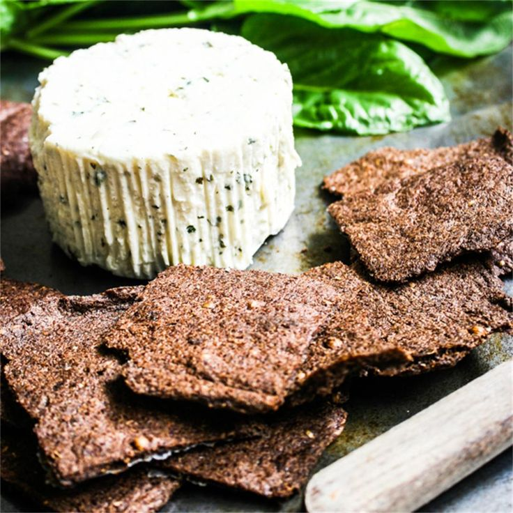 Superfood Flax Seed Crackers by rebelskitchen - #KeepOnCooking #Appetizer #Breakfast #Brunch #GlutenFree  #Snack #Vegan #Vegetarian