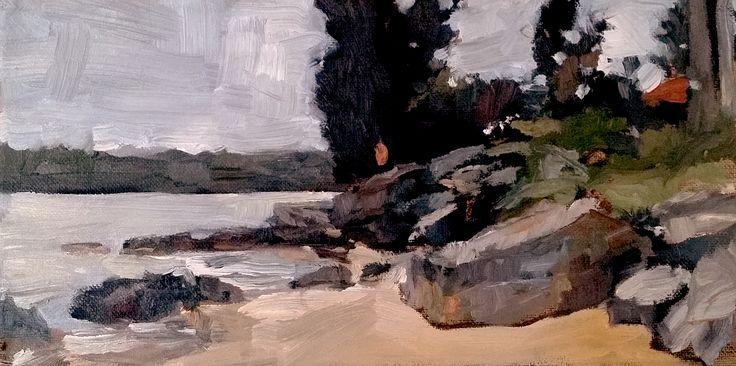 Shark Island - Sydney Harbour - Oil on canvas