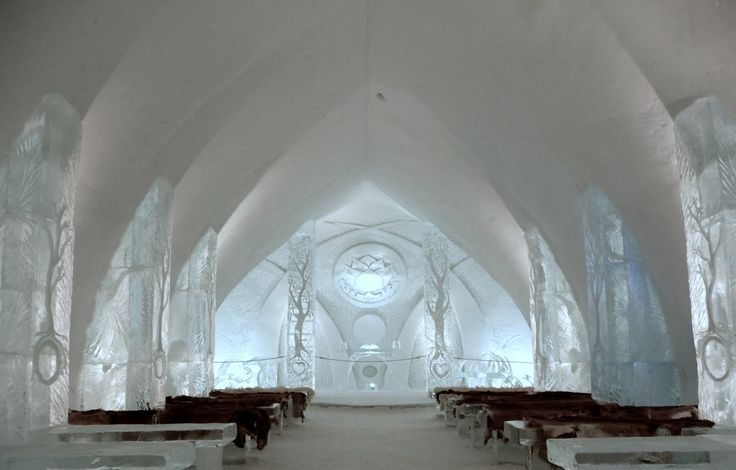 ice hotels   Ice Hotel Holiday, Quebec, Canada, Hotel de Glace, Chapelle