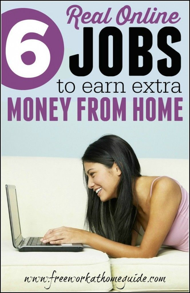 Choose one or all 6 real online jobs to earn money at home if you have the relevant skills required to get started making money online.