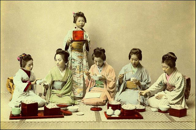 EVEN GEISHA HAVE TO EAT -- More Meiji Macaroni Madness in Old Japan by Okinawa Soba, via Flickr