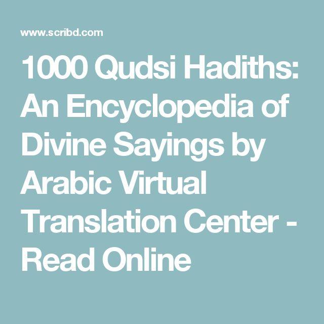 1000 Qudsi Hadiths An Encyclopedia Of Divine Sayings By Arabic