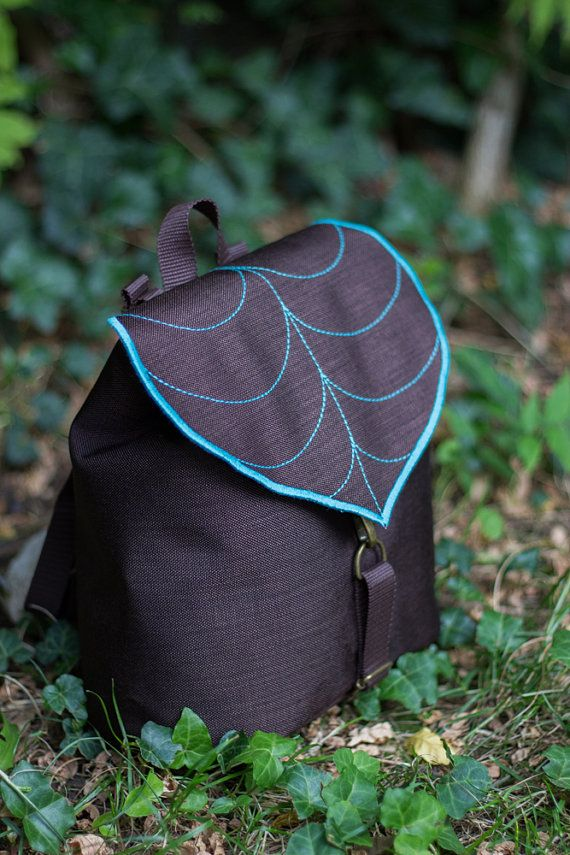 Braun Blatt Mini Rucksack, Boho Rucksack Kleinkind Rucksack, kleine Tasche, wasserdichte Tasche, Woodland Design, sofort lieferbar