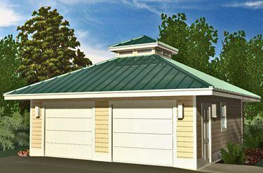 24 best hip roof design images on pinterest for Hip roof garage plans