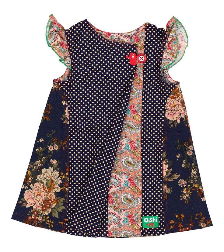 Winter Berry Dress, Oishi-m Clothing for kids, Winter 2016, www.oishi-m.com