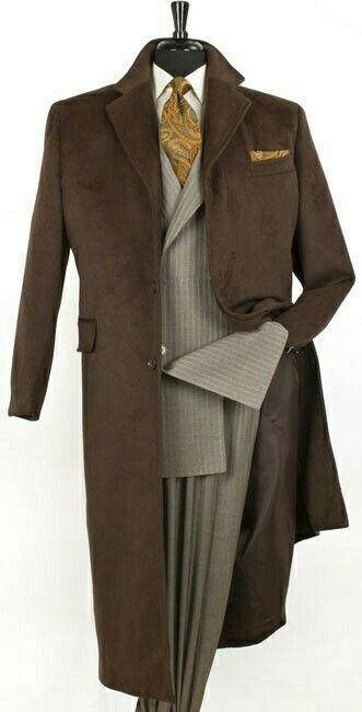 Дълго кафяво палто