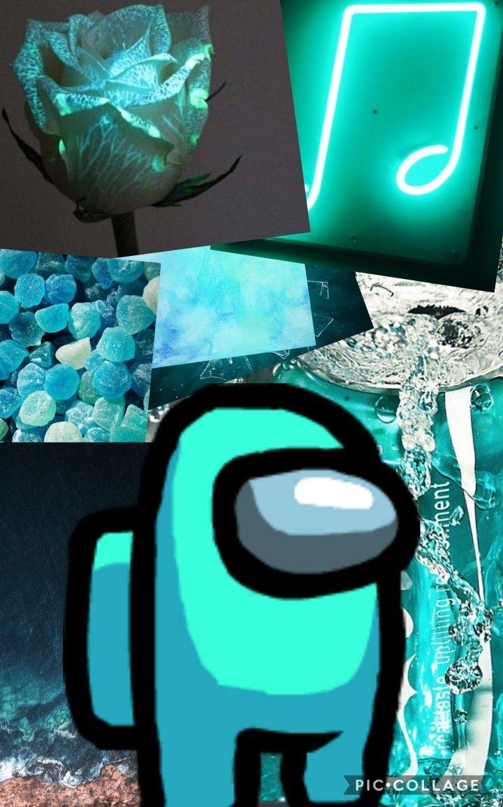 Aesthetic Among Us Cyan Character Iphone Wallpaper Tumblr Aesthetic Cute Tumblr Wallpaper Aesthetic Iphone Wallpaper