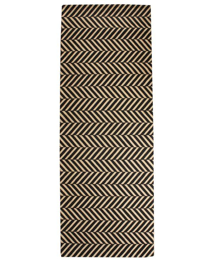 Herringbone Sisal Runner,  2.5' x 7'