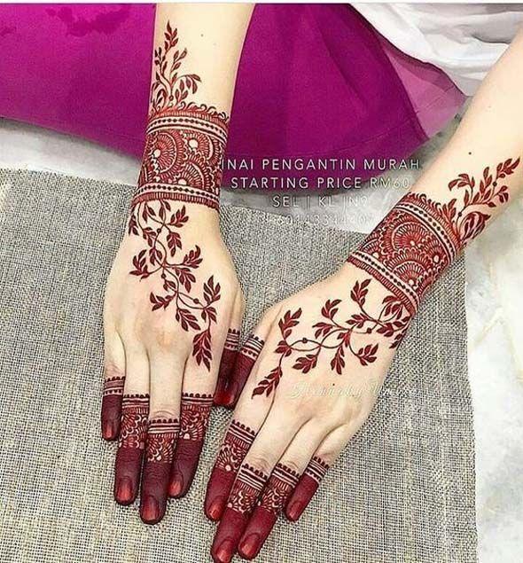 Beautifull Simple Henna Wedding Mehndi Designs Stylish Mehndi