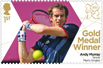 Royal Mail 'next day' gold medal winner stamps for Team GB -  Andy Murray #London2012 #Olympics