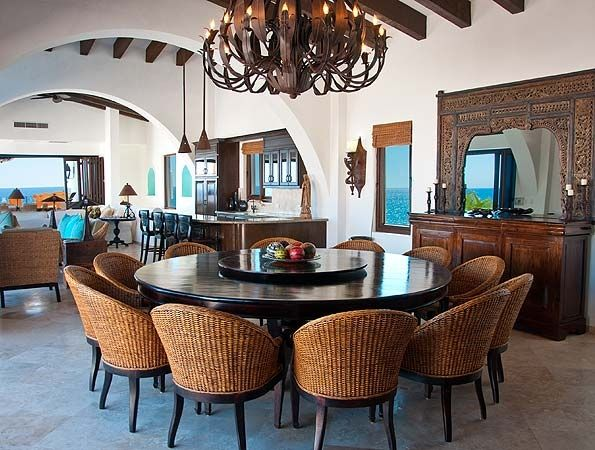 Pin By Lesleigh J On Home Love Dining In 2020 Large Round Dining Table 10 Person Dining Table Round Dining Room