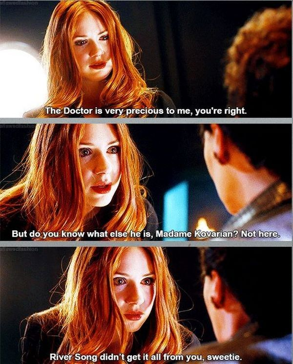 Amy Pond, the companion with an attitude. OK, all companions seem to have some kind of attitude.