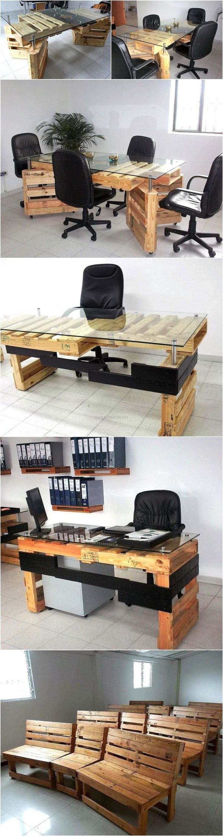 25 Best Ideas About Pallet Furniture Office On Pinterest
