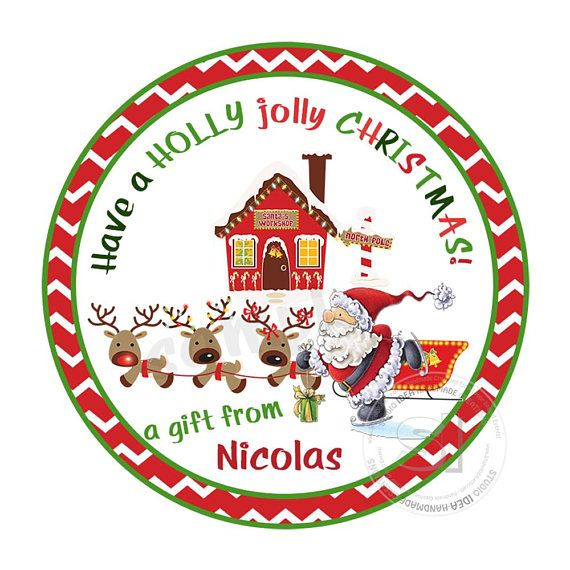 Custom Santa Claus 2.5 Printable Tags-Toppers-Holidays