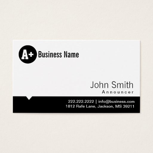 222 best radiotelevision announcer business cards images on plain black dot announcer business card colourmoves