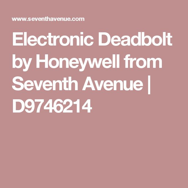 Electronic Deadbolt by Honeywell from Seventh Avenue | D9746214