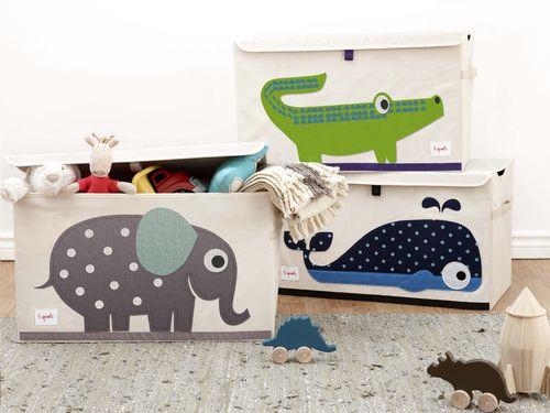 Speelgoed opruimen gaat veel sneller en makkelijker wanneer je een mooie speelgoedkoffer hebt. Je kleintje zal helemaal weg zijn van deze walvis-speelgoedkoffer van #3Sprouts.