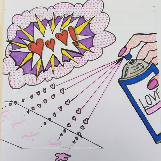 A valentines take on some famous pop art pieces. Roy Lichtenstein and Andy Warhol #roylichtenstein #andywarhol #popart #colourpop #abstractart #valentangle2017 #valentinetangle #zentanglesquare #instart #arts #artist_4_shoutout #myart #sharpieart #mydrawingsunday #sundayart