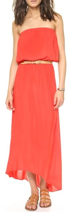 Cute strapless dress in #orange http://rstyle.me/n/i7i3rnyg6