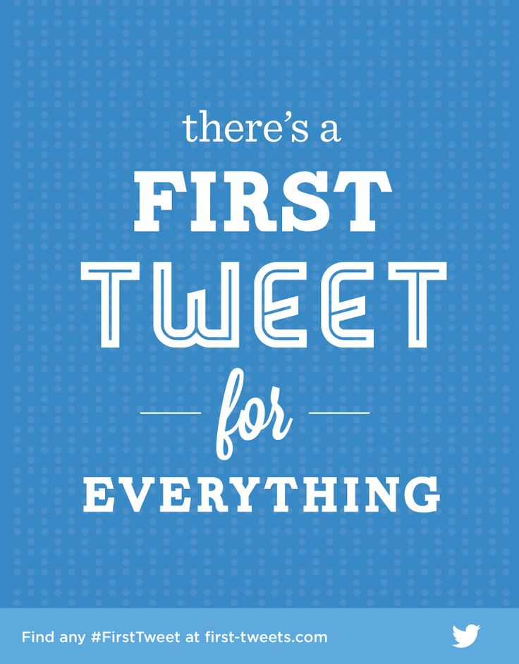 Ah, memories… Find your #FirstTweet at first-tweets.com.