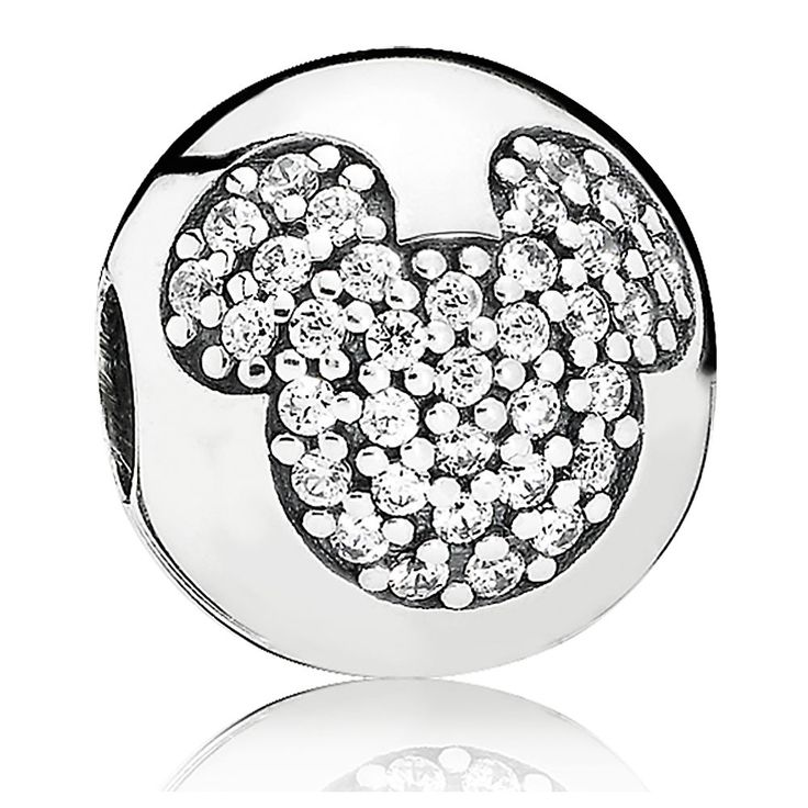"""PANDORA Mickey Mouse """"Mickey Pave"""" Charm Outlet"""