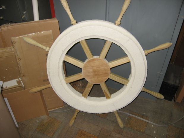 Somehow we have to have a pirate ship wheel