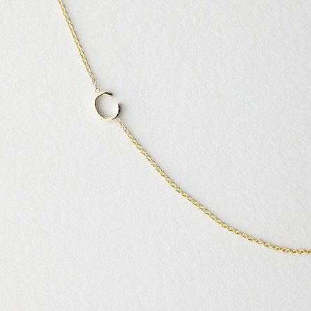 asymmetrical mini letter necklace / maya brenner