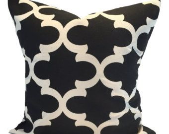 Black Pillows Black Pillow Covers ALL SIZES by ElemenOPillows